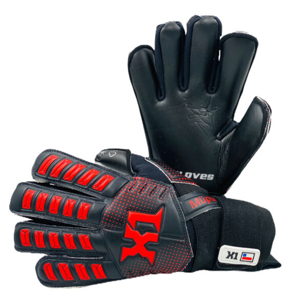 X1 Gloves producto de calidad | Indumentaria deportiva Guantes-Kids-Mupun-Negro-y-rojo-Producto-X1-Gloves-2